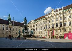 Internal Castle Square at Hofburg, Vienna, Austria Stock Photo