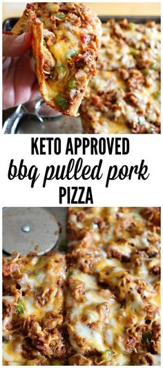 Keto Fathead Pizza BBQ Pulled Pork is part of pizza - Don't miss out on BBQ sauce anymore! We have an amazing keto approved sauce and a delicious Keto Fathead Pizza recipe to use it on BBQ pulled pork Ketogenic Recipes, Diet Recipes, Healthy Recipes, Pizza Recipes, Diet Desserts, Diet Tips, Smoker Recipes, Diet Ideas, Recipies