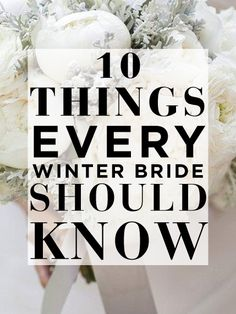 Calling all winter brides!!