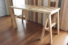 The Toni trestle table is ideal for spaces large or small. It is a set of  three pieces are easily assembled or disassembled and can move with its  users needs. With a parquetry timber table top which is lightweight, the  Toni can be easily transported to any space and suit a variety of needs.