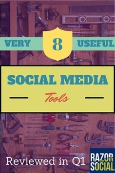 "✅ Check out these 8 Very Useful Social media Tools from Ian Cleary @ RAZOR SOCIAL... as per his final comments in the posting, ""There are so many tools available to help improve your performance.  We hope that you can pick at least one from this list that will be useful to you."""