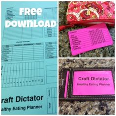 Healthy Eating Planner {Free Printable} | Craft Dictator