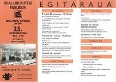 Liburutegiaren sorreraren 25.urteurrena: ospakizunak|25 aniversario del nacimiento de la biblioteca: conmemoración(1993)