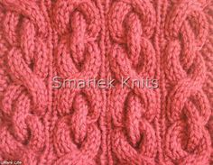 Sihnon Cable Scarf Pattern ~ smariek knits