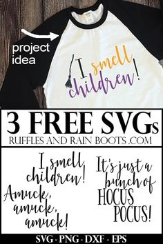 Free Hocus Pocus SVG Files (Other Formats Included)! 3 Free Hocus Pocus SVGs for Halloween Cricut Crafts Silhouette Cameo Projects, Silhouette Design, Free Silhouette Files, Shilouette Cameo, Cricut Tutorials, Cricut Ideas, Crafts For Teens To Make, And So It Begins, Silhouette Machine