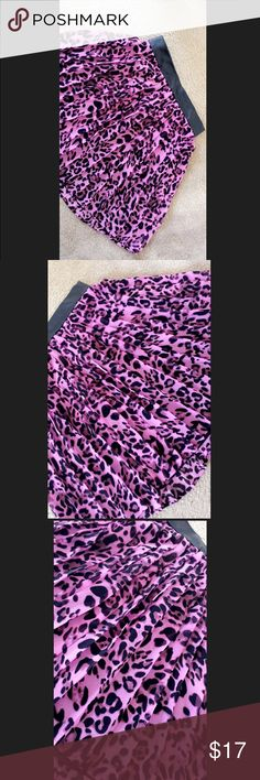 Purple Leopard Print Skirt Features super cute leopard print Pleats, a back zipper and leather waistband. Skirts Mini