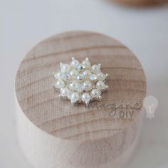 Viennese Pearl small pearl embellishment with crystal details. Pretty decoration for DIY wedding stationery, invitations, paper crafts, invites.