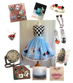 """""""Alice in wonderland"""" by daisydurnell on Polyvore featuring Disney"""