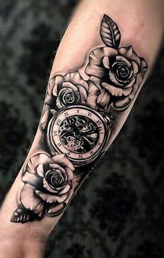 180 Tatuagens de relógios incríveis para você se inspirar - TopTatuagens