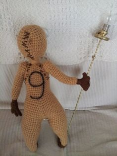 figure 9 ,crochet doll 1 ft tall , tim burtons movie 9 .