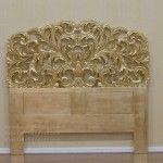 Gold Gilt Headboard Rococo Bed