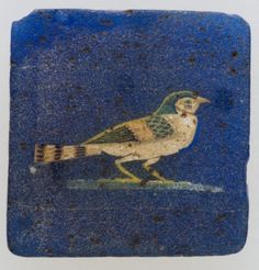 Inlay, swallow hieroglyph Period: Ptolemaic Period–Roman Period Date: 100 BC–100 AD Geography: From Egypt Medium: Glass