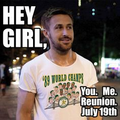 Counting down the days until the 1989 World Series Champions Team Reunion, www.athletics.com/1989  #HeyGirl