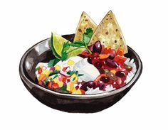Watercolour Illustrations - Holly Exley Illustrator: More Food!   Watercolour Food Illustrations