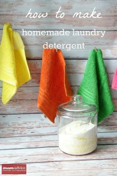 How to Make Homemade Laundry Detergent with Picture Tutorial. I had no idea it was that easy!