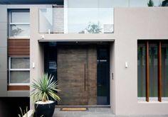 Contemporary Entry by Couvaras Architects Porte Design, Door Design, Pivot Doors, Modern Entryway, Tiny Spaces, Exterior Doors, Entrance, Modern Design, Contemporary