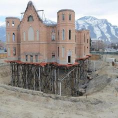 Provo tabernacle temple construction