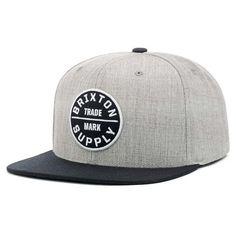 Casquette Brixton Snapback OATH III Grise et Noire #mode #snapback #tendance @brixtonMfg #rentree2015 avec votre #startup @hatshowroom Boutique Headwear