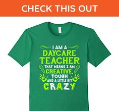 Mens Creative Tough Crazy Daycare Teacher T Shirt XL Kelly Green - Careers professions shirts (*Amazon Partner-Link)