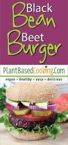This one is rich in protein and heart-healthy punch with black beans, rice, beets, and raisins. Yes, raisins! Vegan Breakfast Recipes, Delicious Vegan Recipes, Healthy Recipes, Diet Recipes, Burger Recipes, Recipes Dinner, Dinner Ideas, Beet Burger, Vegan Burgers