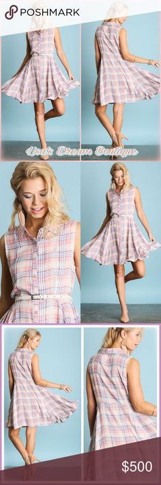 ✨Coming Soon✨Plaid Print Shirt Dress✨ 🆕Super Cute Pastel Plaid button down shirt dress...Completely versatile, can be dressed up or down as well as changing belt color for a different look👀🛍Lightweight cottonblend, extremely comfy!🌼🔹NO TRADES🔹PRICE WILL BE FIRM UNLESS BUNDLED🔹💟25% OFF BUNDLES {Limited Time}💟📥Like this listing to be notified of Arrival📥 LDB Dresses Midi