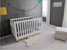 Dark gray for a boy room (or girl w/lavender accents)