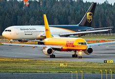 DHL B757 and UPS B767 freighter