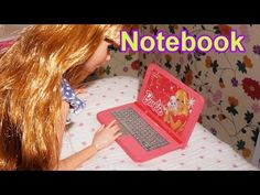 How to make a doll laptop notebook computer (Barbie, Monster High, Frozen, EAH, etc) - YouTube