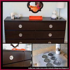 Dollar Store Crafter: Use Mason Jar Lids To Revamp Dresser Draw Pulls