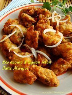 Onion accras: a quick and economical recipe Haitian Food Recipes, Cuban Recipes, Healthy Food Alternatives, Healthy Recipes, Healthy Meals, New Orleans Recipes, Caribbean Recipes, Wrap Sandwiches, Food Cravings