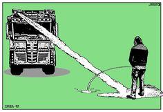 Opposing forces. Today's cartoon by Predrag Srbljanin: https://www.cartoonmovement.com/cartoon/42841