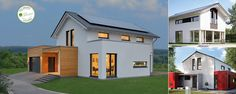 Prefabricated homes also know as prefab eco-houses from K-HAUS Ltd, UK distributor for offsite German flat-pack house manufacturer KAMPA, offering self-builders shell to turnkey kit solutions. Prefabricated Houses, Prefab Homes, Flat Pack Homes Uk, Self Build Houses, Portable House, House Design, Flats, Mansions, House Styles