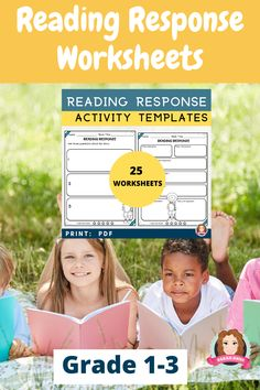 Reading response worksheets are a great activity for your students to use during English Language Arts lessons. Perfect for guided reading activities in Kindergarten, 1st Grade, 2nd Grade and 3rd Grade. Perfect for distance learning or in class reading response activity. 25 reading worksheets. Students are asked to highlight plot profile, character traits, recall beginning, middle and end of the story and a range of other activities associated with reading responses. #readingactivites Reading Comprehension Activities, Reading Worksheets, 3rd Grade Reading, Third Grade Math, Creative Teaching, Teaching Resources, Teaching Language Arts, Social Emotional Learning, Character Education