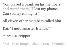 I swear Chen would be way more likely to do this kind of stuff ! Guess everyone has a Chen side...