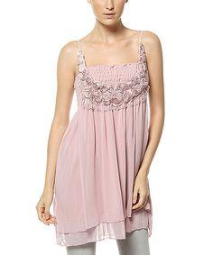 Scarlett Pink Shirred Tunic | zulily