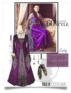 """Morgana Pendragon ..."" by kts-desilva ❤ liked on Polyvore featuring Betsey Johnson, René Caovilla, Halloween, 60secondstyle and villaincostume"