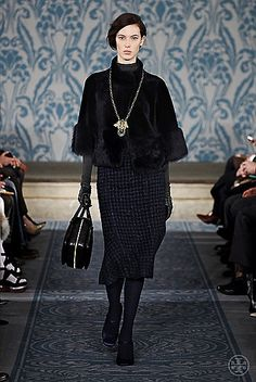 Tory Burch Fall 2013 #ToryFall13  furry, thick, velvet that reminds me of russia