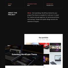 mirax gutenberg wordpress theme Personal Portfolio, Best Wordpress Themes, Author, Names, Creative, Blog, Design, Writers