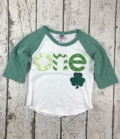 fdcbd279 one shirt, St Patty's baby, birthday shirt, Clover, Shamrock Shirt Saint  Patrick's Day tee children shirt green, little leprechaun