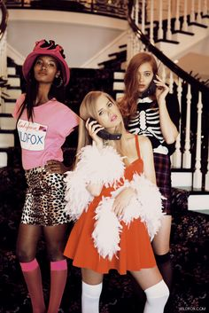 Wildfox Couture Clueless Collection (A Tribute to Amy Heckerling), Spring/Summer 2013 #lookbook | Olivia Greenfield, Fatima Siad, & Tanya Katysheva by Mark Hunter