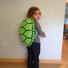 The Almost Perfectionist: Homemade Turtle Costume - diy turtle shell idea