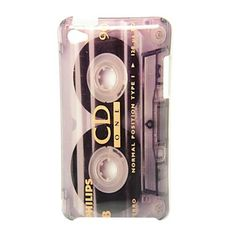 CD Tape Camera Pattern Back Cover Hard Case for iPod Touch4 – USD $ 3.99