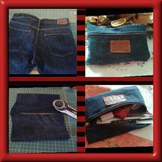 Riciclo jeans.... Astuccio.