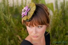 Gorgeous Lily Pad Fascinator Hat by FaithfullybyFreckles on Etsy, $98.00