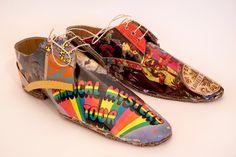 Cardboard shoes by Mark O'Brien