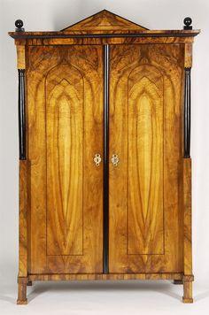 An elegant Biedermeier armoire