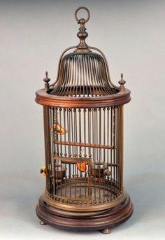 Circular, metal cage