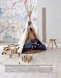 Moon to Moon: Childrens room Inspiration: Teepee Den's
