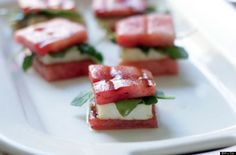 Watermelon Grilled Cheese Bites  http://www.huffingtonpost.com/2012/08/15/grilled-cheese-recipes