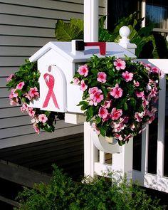 Mailbox planter..planter slides over existing mailbox.